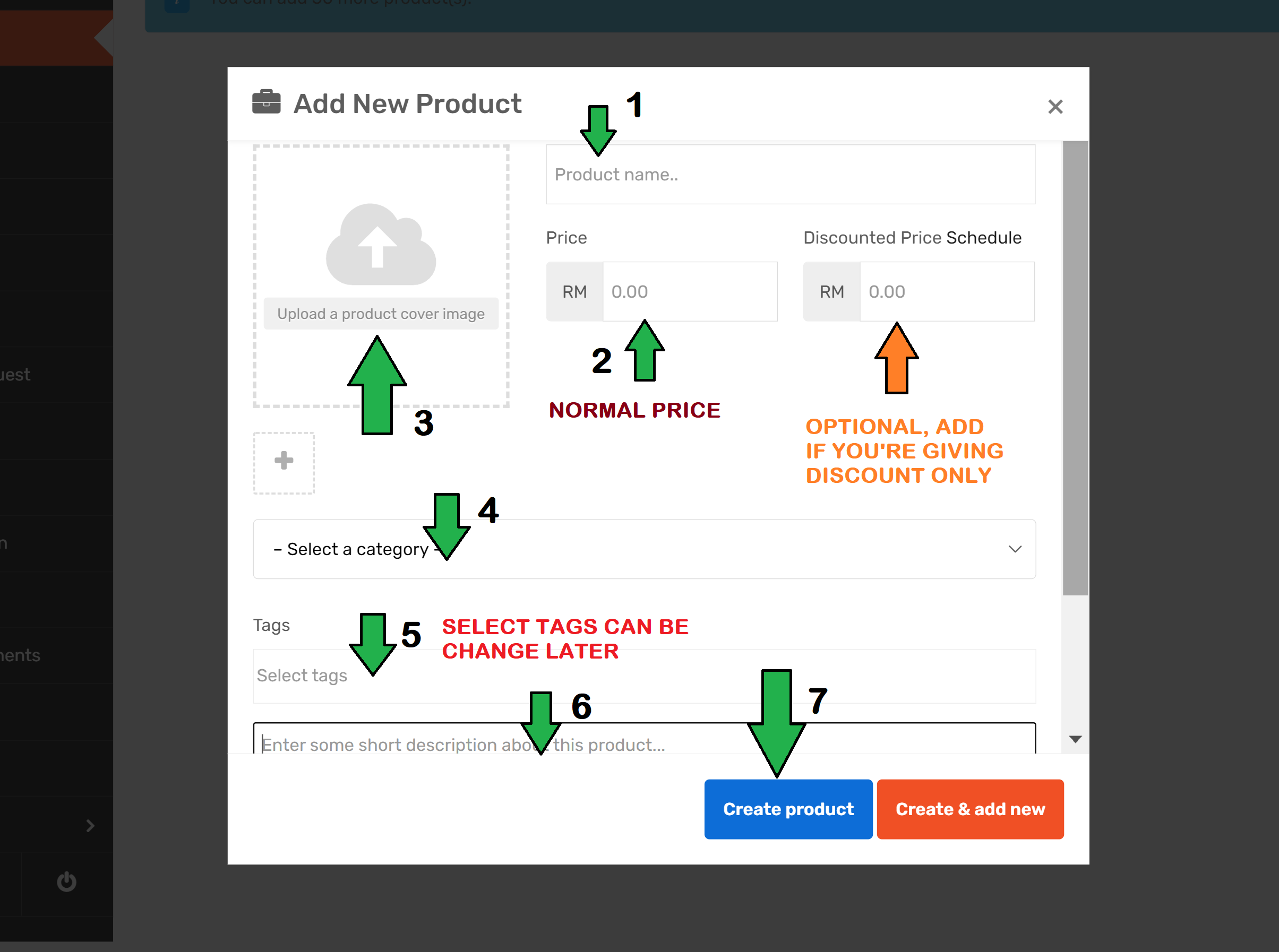 How to Add Categories to appear in Organisation, Wholesales, Women, Youth, Products or others?